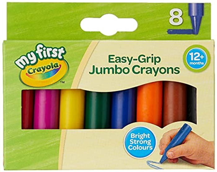 CRAYOLA My First Jumbo Easy Grip Crayons - 74% off at Amazon