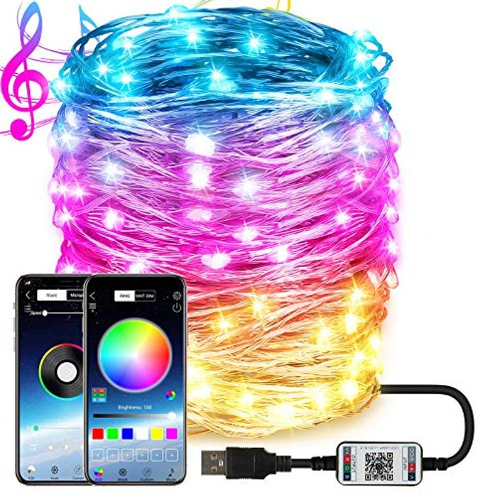 Dcola 10m App Control Fairy Lights Plug in - Only £6.75!