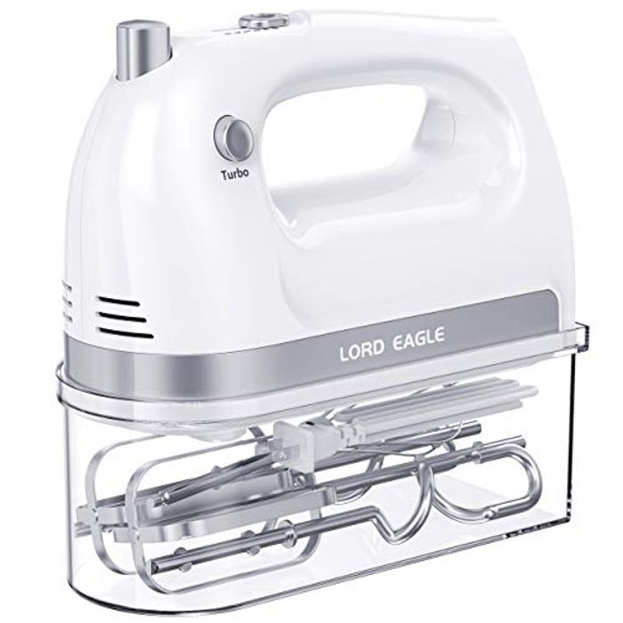 DEAL STACK - Lord Eagle Hand Mixer, Electric Whisk + 15% Coupon