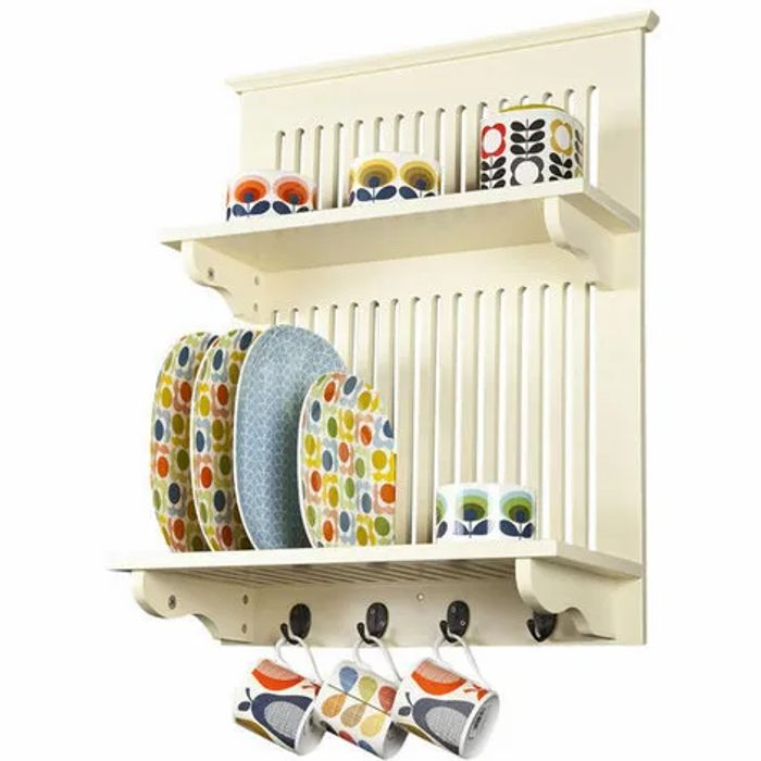 Aston Kitchen Plate Rack in Buttermilk