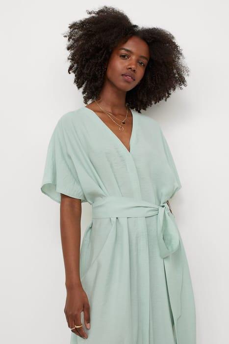 Tie-Belt Kaftan - Mint Green