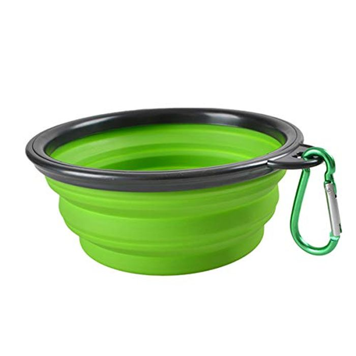 Collapsible Portable Travel Pet Bowl, Food Grade Silicone BPA - 4 Colours