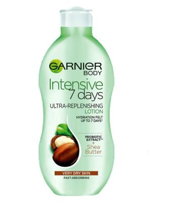 Garnier Intensive 7 Days Shea Butter Probiotic Extract Body Lotion Dry Skin 400m