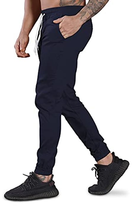 Chino Casual Drawstring Elasticated Jogger Sport Men's Sweatpants - Only £3.20!