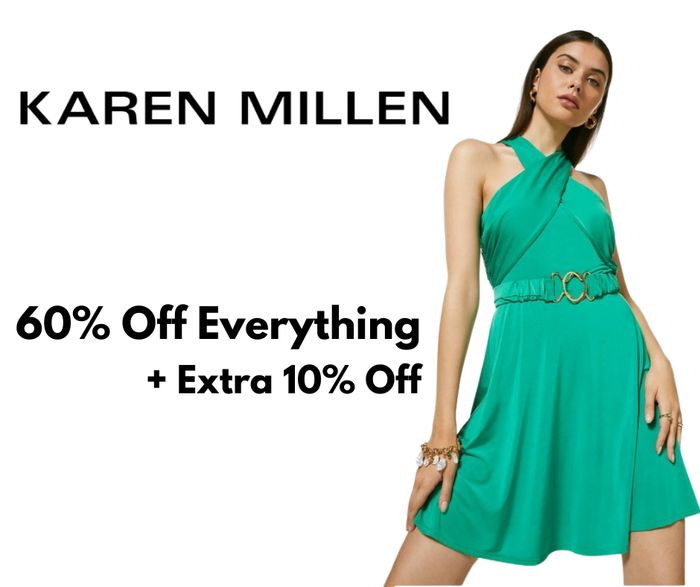 Karen Millen Up To 60% Off Everything + Extra 10% Off Code