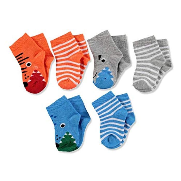 6 Pairs Designed Cotton Ankle Socks