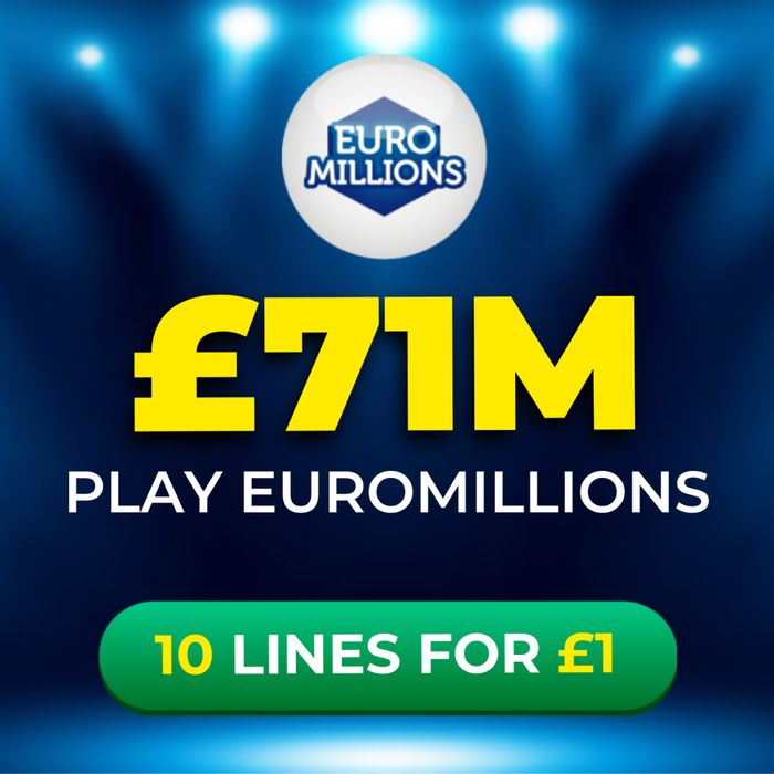Euromillions £71 Million Jackpot - 10 Lines Just £1 at Lotto Social!