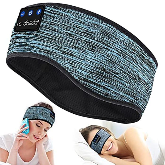 DEAL STACK - Sleep Headphones Bluetooth Headband + 8% Coupon