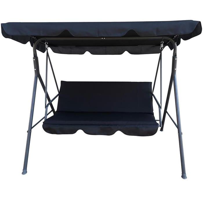 Black 3 Seater Swinging Hammock