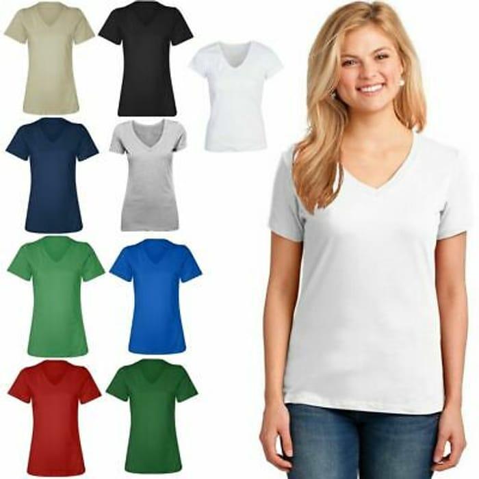 N Women Ladies next Plain Basic Half Sleeve v Neck UK Size T- Shirt Top