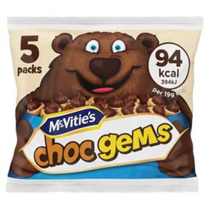 McVitie's Choc Gems 5 X 19g