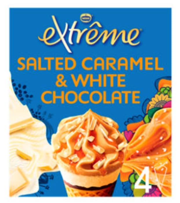 Extreme Salted Caramel & White Chocolate Ice Cream Cones