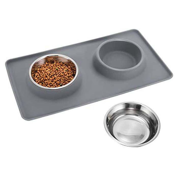 TedGem Dog Bowls Feeding Bowl, Pets Food Mat - Only £5.99!