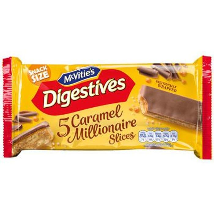 McVitie's Digestives 5 Milk Chocolate Caramel Millionaire Slices