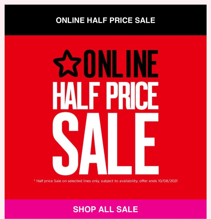 Online 1/2 Price Sale- Hurry Limited Stock Available Price from £1.99