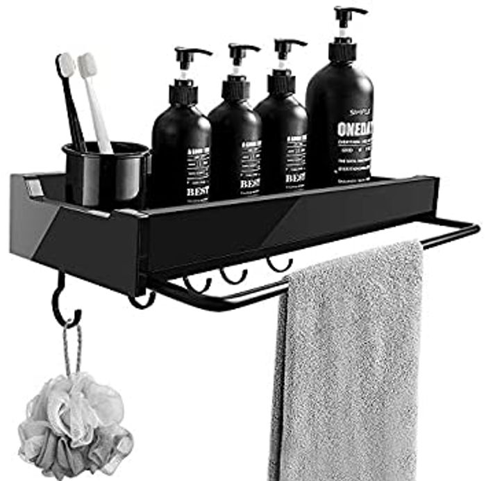 Shower Caddy with 5 Hooks