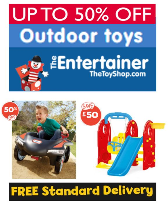 CHEAP! The Entertainer - up to 50% off - OUTDOOR TOYS + FREE DELIVERY OVER £20