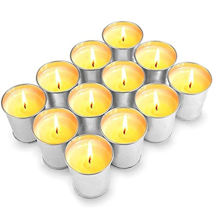 Citronella Candles Outdoors