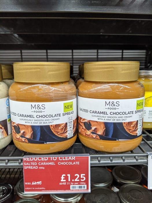 Half Price M&S Salted Caramel Chocolate Spread