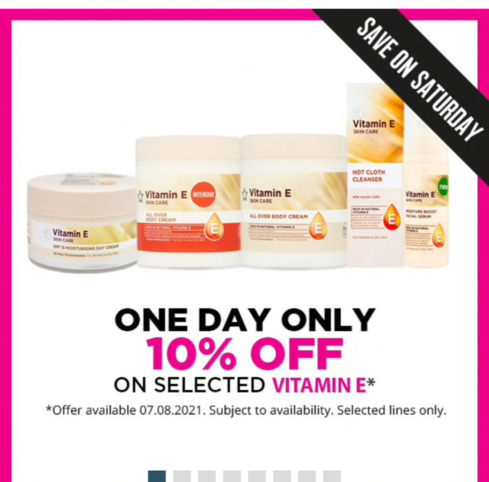 Save on Saturday! save 10% on Selected Vitamin E products Buy1 Get 2nd Price