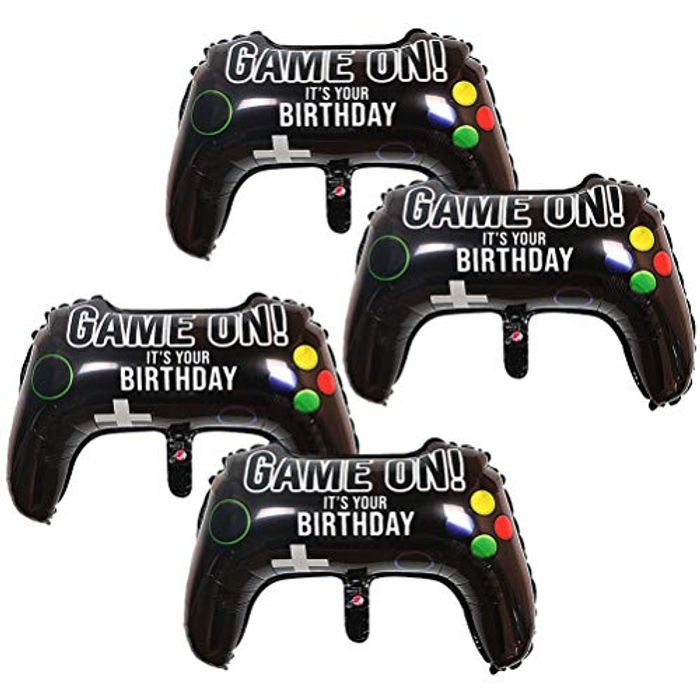 Nuoshen 4 Pcs Video Game Party Balloons, 25.1 X 15.7 Inch