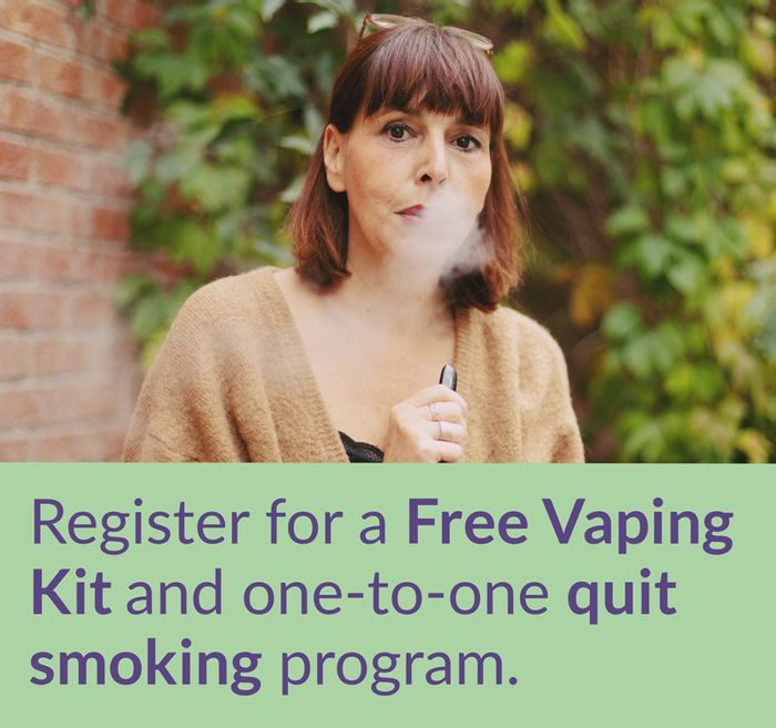 Register For A Free Vaping Kit & One To One Quit Smoking Programme