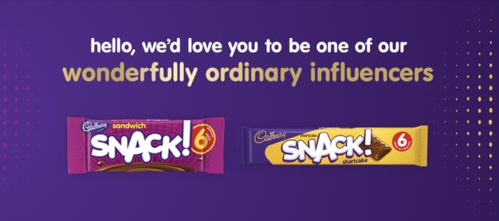 Free Cadbury SNACK Box