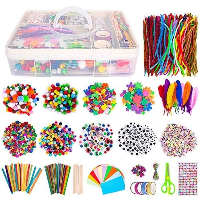 Art Craft Supplies - over 2000Pcs DIY Creative Craft Box