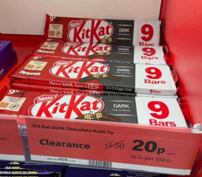 Kit Kat 2 Finger Dark Chocolate Biscuit Bar 9x20.7 Just 20p
