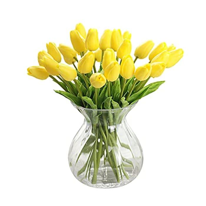 Artificial Flowers Bouquet Tulip 10Pc, 6 Colour Options - 60% Promotion