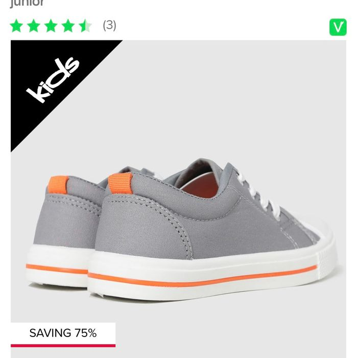 Cheap Shuh Grey Major Lace up Trainers Junior at Schuh