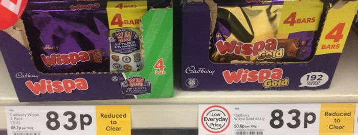 Cadbury's Wispa / Wispa Gold - 4 Pack