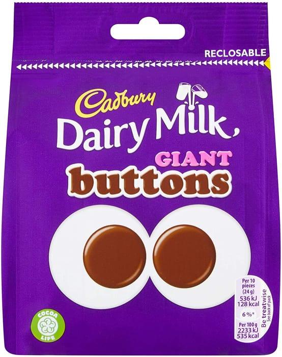 Best Price! Cadbury Dairy Milk Giant Chocolate Buttons Bag, 95g