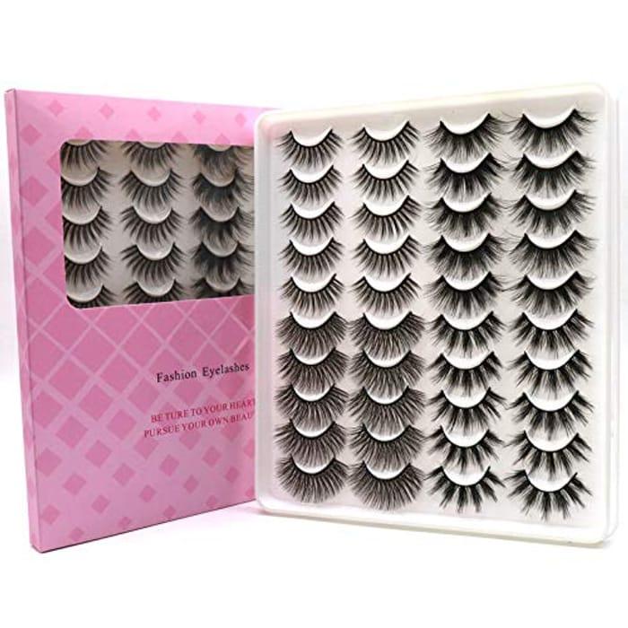 False Eyelashes 4 Styles 20 Pairs Long Dramatic Fluffy Lashes
