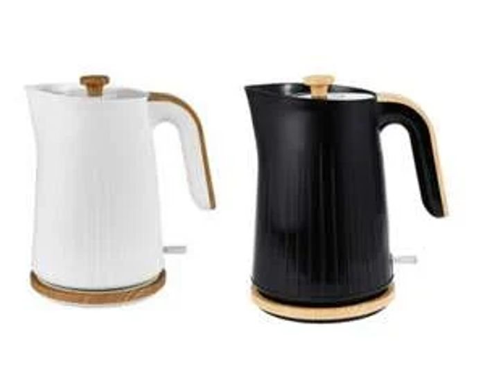 Wood Textured Scandi Fast Boil Kettle 1.7L Click & Collect