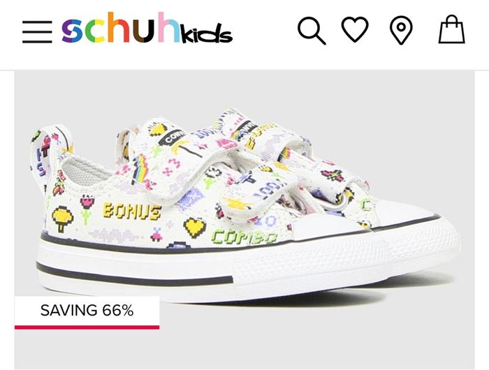 Converse Chuck Taylor All Star 2V Lo Gamer Trainers for Toddlers 66% off at Schuh