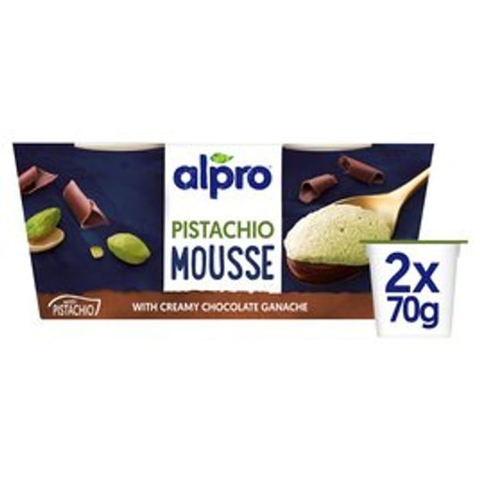 Alpro Pistachio Mousse & Chocolate Ganache2 X 70g