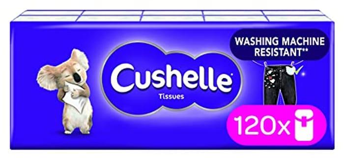 120 Cushelle Tissues Pocket packs.( 1200 Tissues)