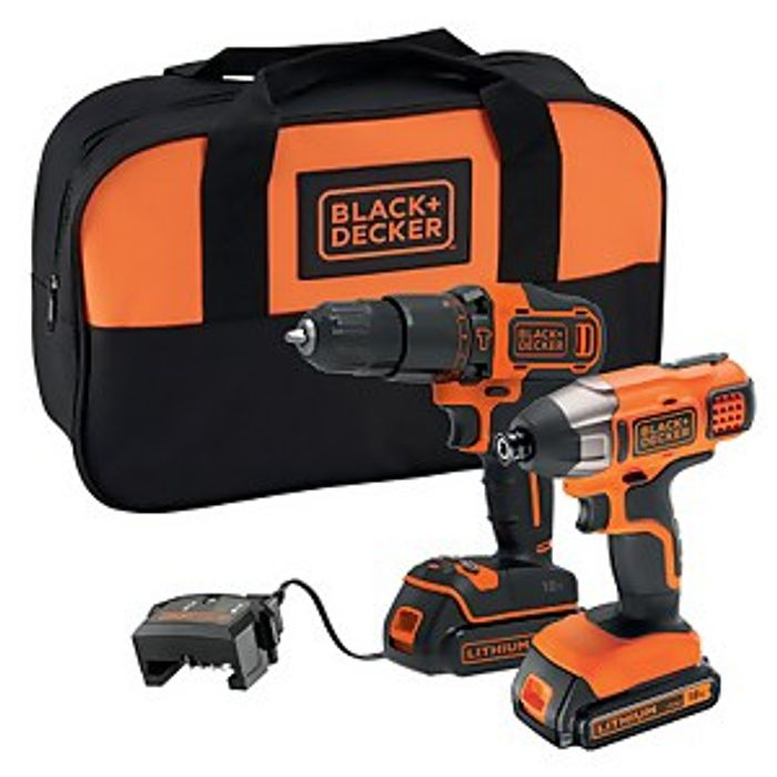 *SAVE over £19* BLACK+DECKER 18V Cordless Combi Drill and Impact Driver