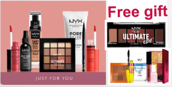 2 Free Gift Spend £20 on Selected NYX Products including Lip Lingerie XXL