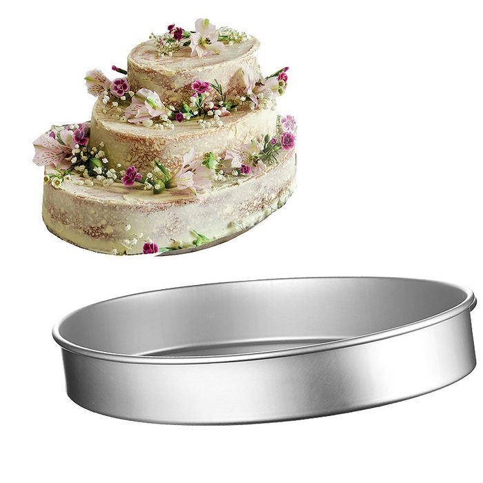 Lakeland Silver Anodised Aluminium Large Oval Cake Tin 35.5 X 26.5cm