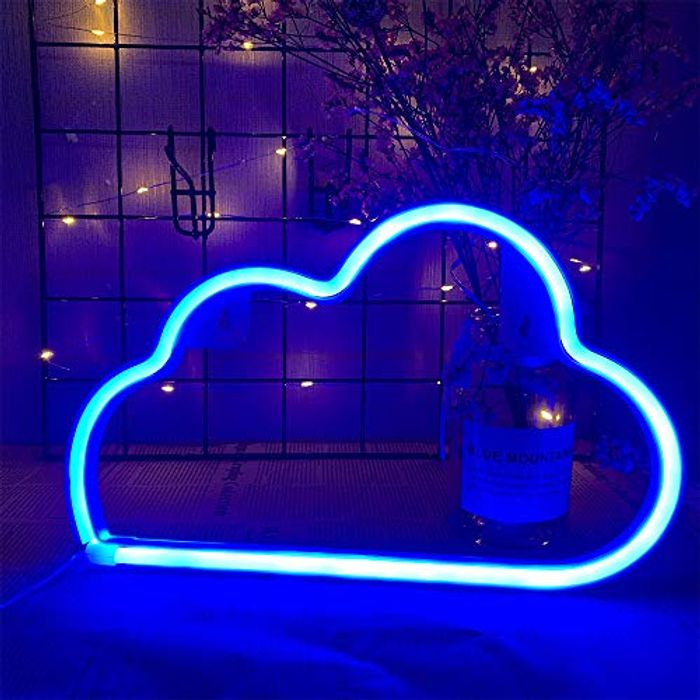 ENUOLI Cloud Neon Signs USB/Battery Powered Neon Lights with £8 off Coupon