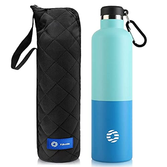 Stainless Steel Vacuum Insulated Water Bottle with Carabiner