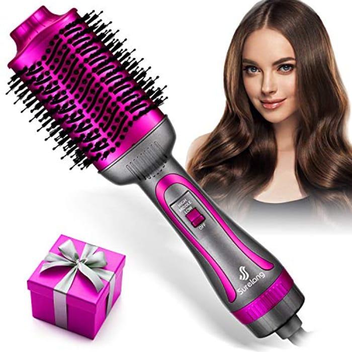 Hair Dryer Brush, Hot Air Brush, Upgrade 5 in 1 Hot Air Styler - Only £11.88!