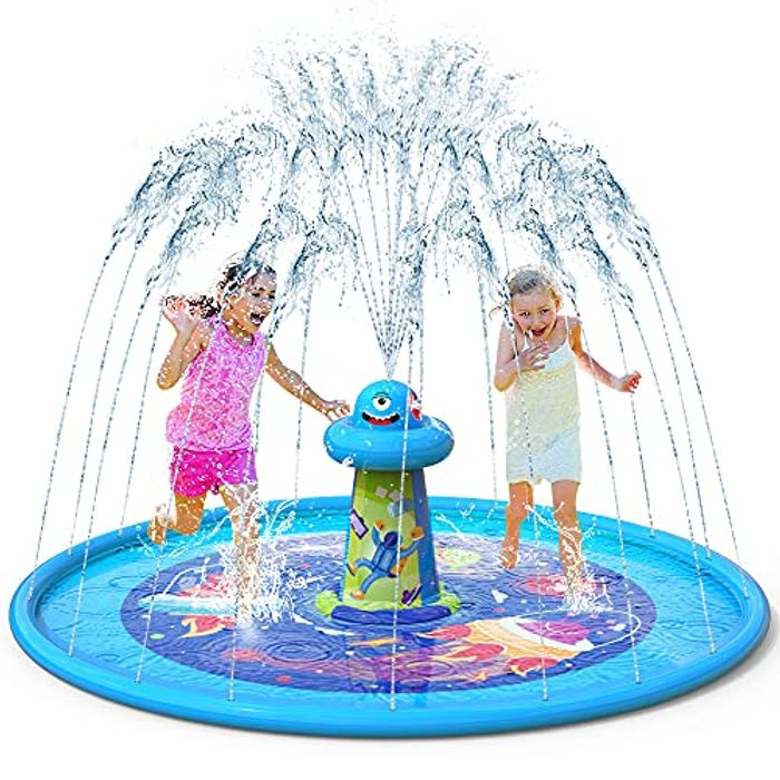 VATOS Updated Splash Play Mat Water Sprinkler for Kids - Only £7.99!