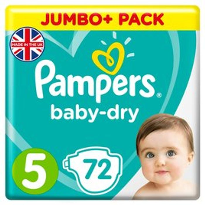 Pampers Nappies of All Varieties Reduced from £12 to £5.99 at Morrisons
