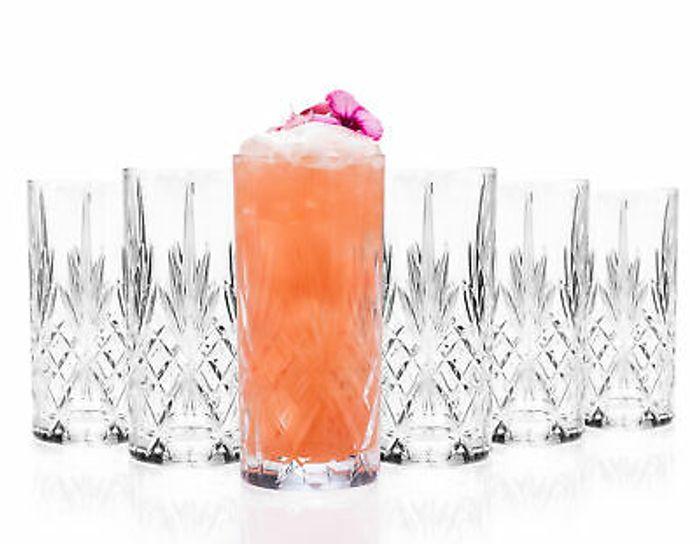 Crystal Melodia High Ball Glasses Set of 6