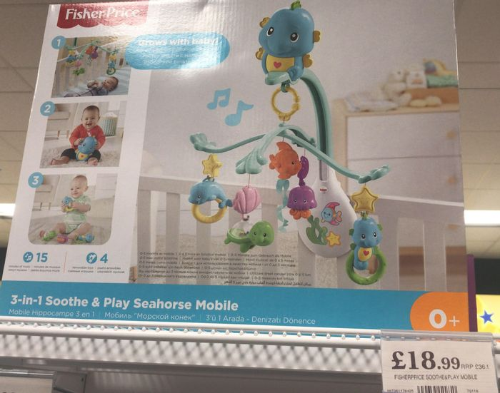 Fisher Price Soothe + Play Cot Mobile
