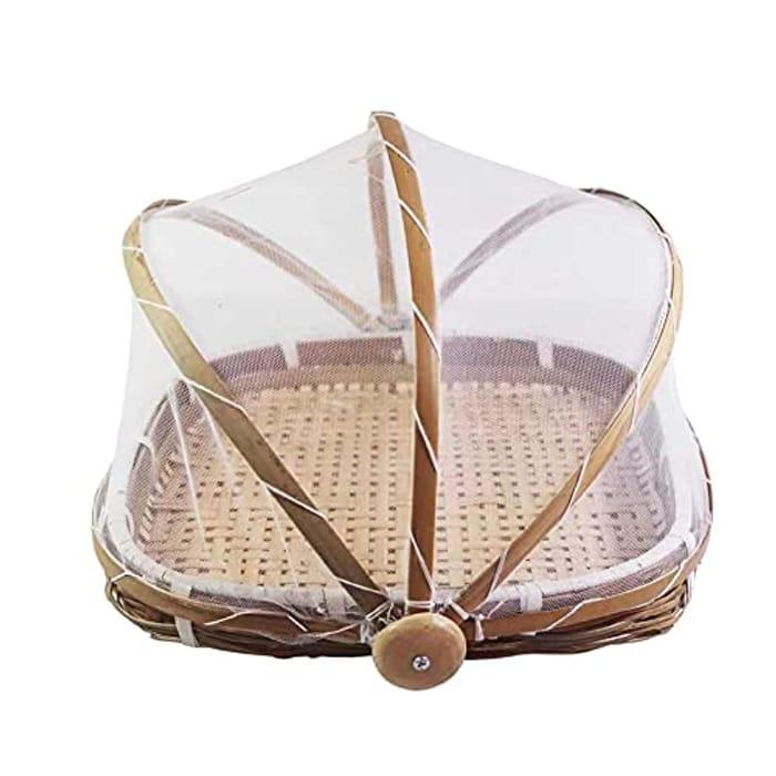 Dustproof Bug Proof Yoye Food Tent Hand Woven Basket with £10 off Coupon