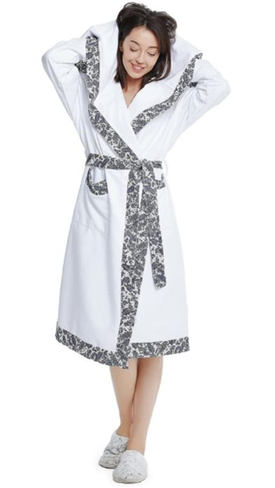 Luxury Towelling Bathrobe Edit Only Large in white available now